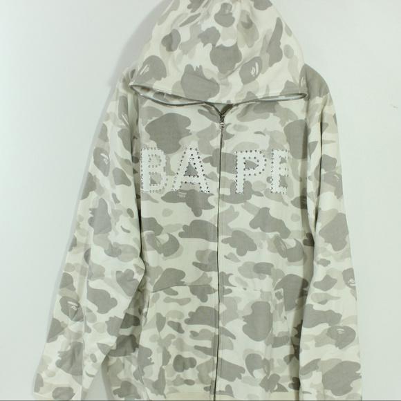 e953391e Bape Jackets & Coats   A Bathing Ape Swarovski Og Camo Full Zip Hood ...